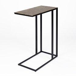 Nara side table powder coated stand aluminium