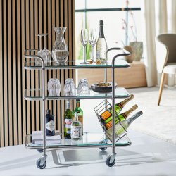 Ever Ready serving trolley-stainless steel