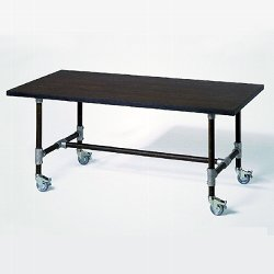 Industrie product carrier table black 22ox9o H74cm