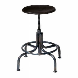 Industrie stool iron frame black H45-65 cm