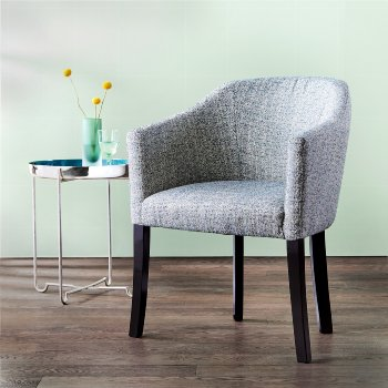 Cento armchair upholstered oak solid  oiled