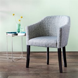 Cento armchair upholstered oak solid white