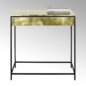 Mena console gold leaf lacquered base
