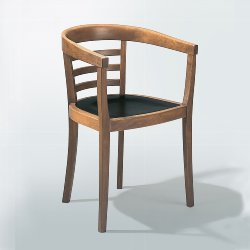 Julius chair - oak walnut-brown stained + lacquere