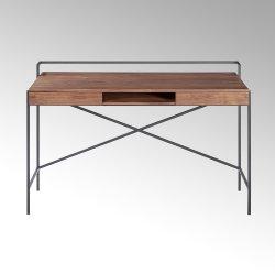 Derrick desk walnut veneer 120 x 63 x 80,5 cm