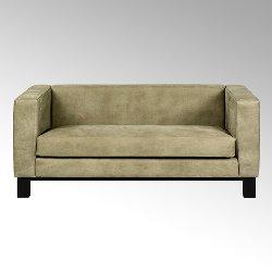 Bella sofa with leather SANTA FE grey