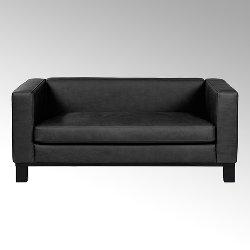 Bella sofa with leather SANTA FE black