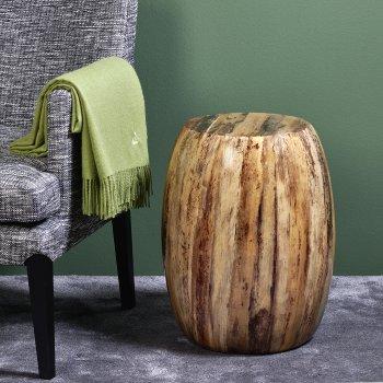 Keiko stool banana leaf  H 51 cm, D 40 cm