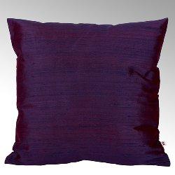 Seine cushion cover 100% silk cassis, 40x40cm