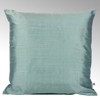 Seine cushion cover 100% silk aqua, 40x40cm