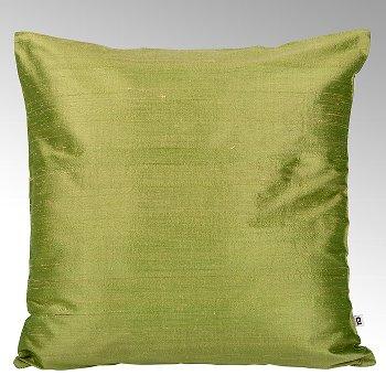 Seine cushion cover 100% silk khakhi, 40x40cm