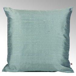 Seine cushion cover 100% silk aqua, 50x50cm