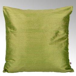 Seine cushion cover 100% silk khakhi, 50x50cm