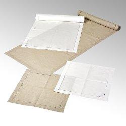 Padua, table runner 50x150 cm, 100 % linen,
